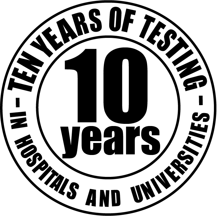 logo ten years of research and testings